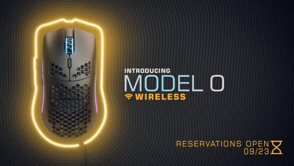 An image of the new Glorious Model O Wireless mouse