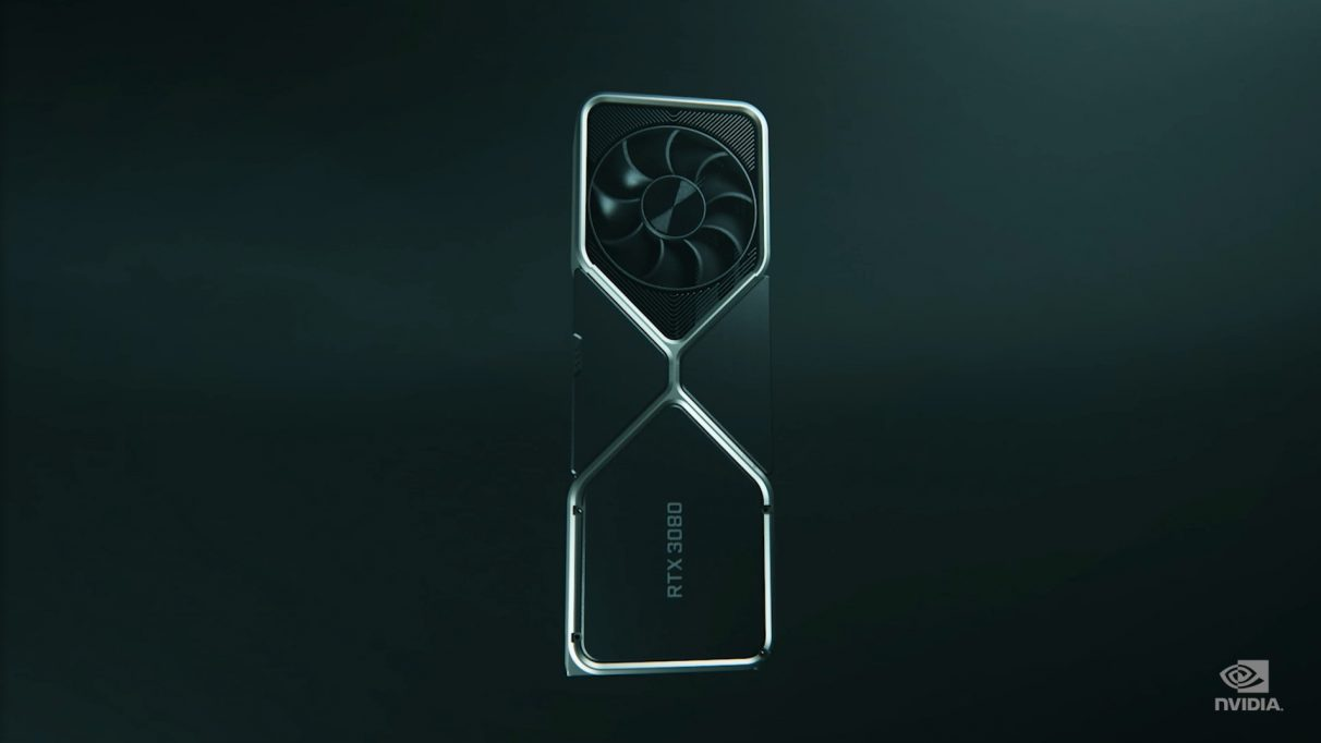 An image of Nvidia's RTX 3080 graphics card