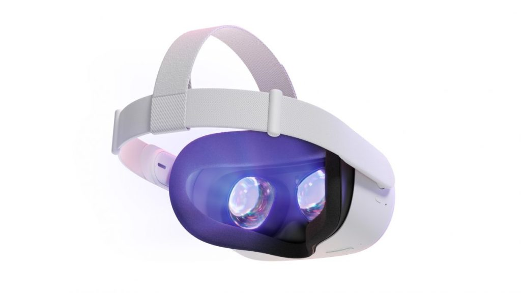 A photo showing the inner lenses of the Oculus Quest 2