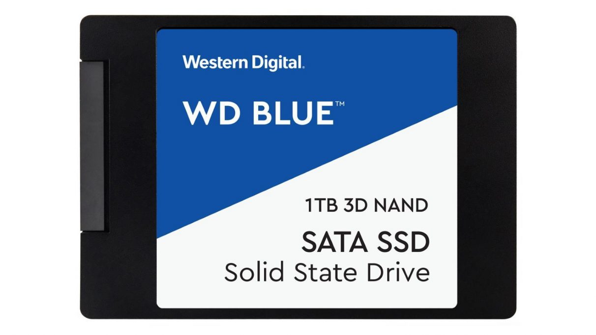 An image of the 1TB version of WD's Blue 3D NAND SSD