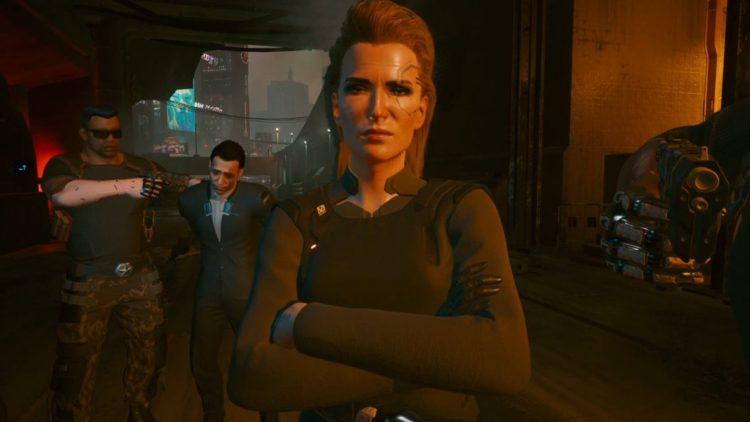 A screenshot of Meredith Stout in Cyberpunk 2077.