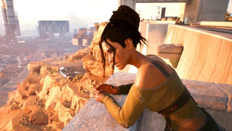 A screenshot of Panam Palmer in Cyberpunk 2077.