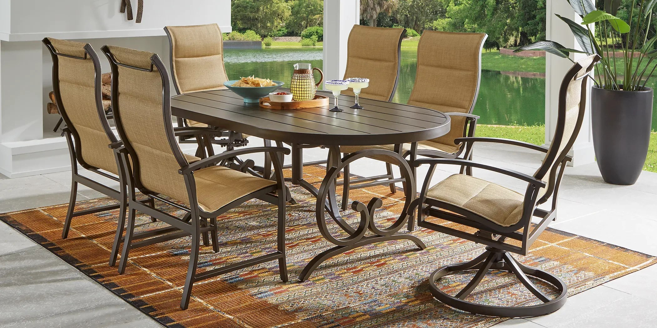outdoor 5 piece patio dining sets