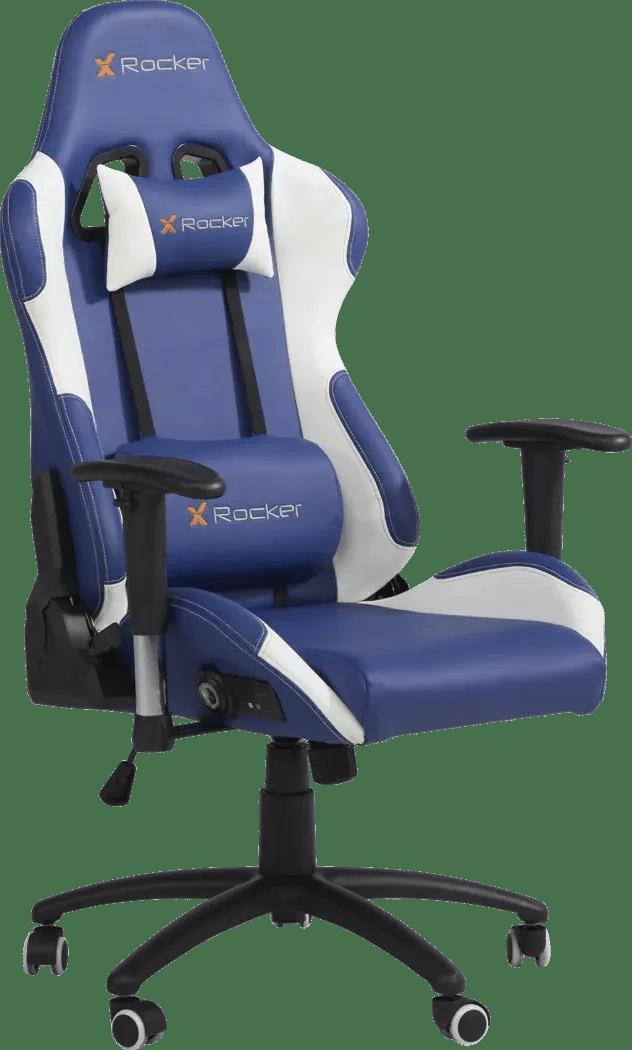 Kids Sound Trek Blue White Gaming Desk Chair Rooms To Go