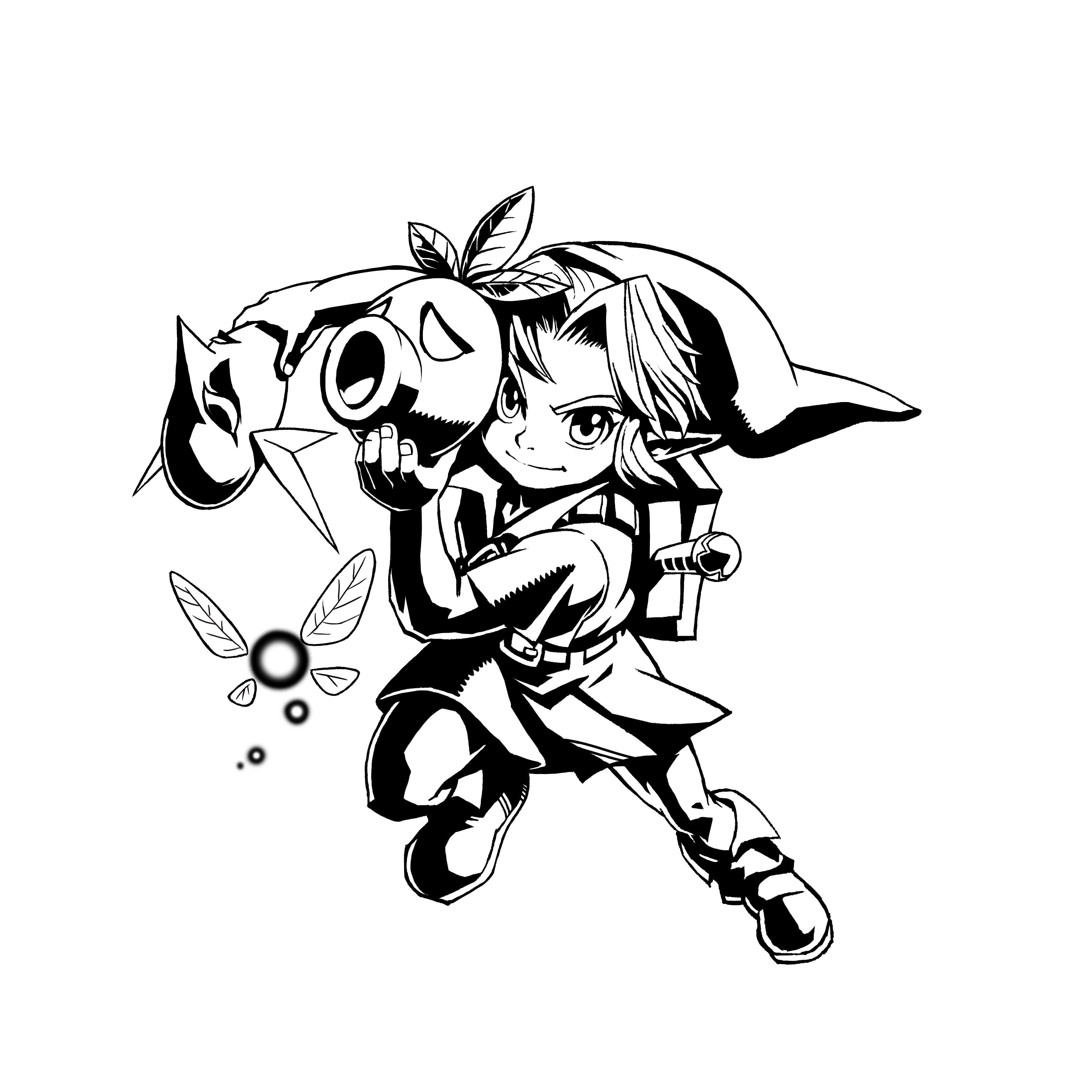 Legend Of Zelda Majora S Mask Coloring Pages