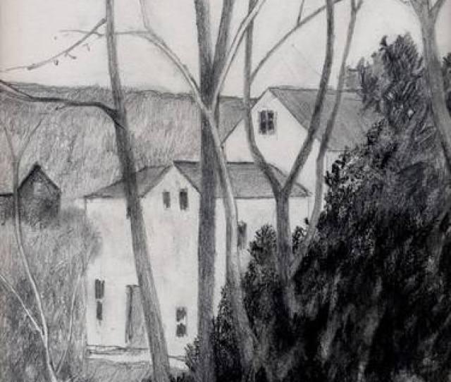 Saatchi Art Artist Kenneth Richards Drawing House On Gifford Road Art