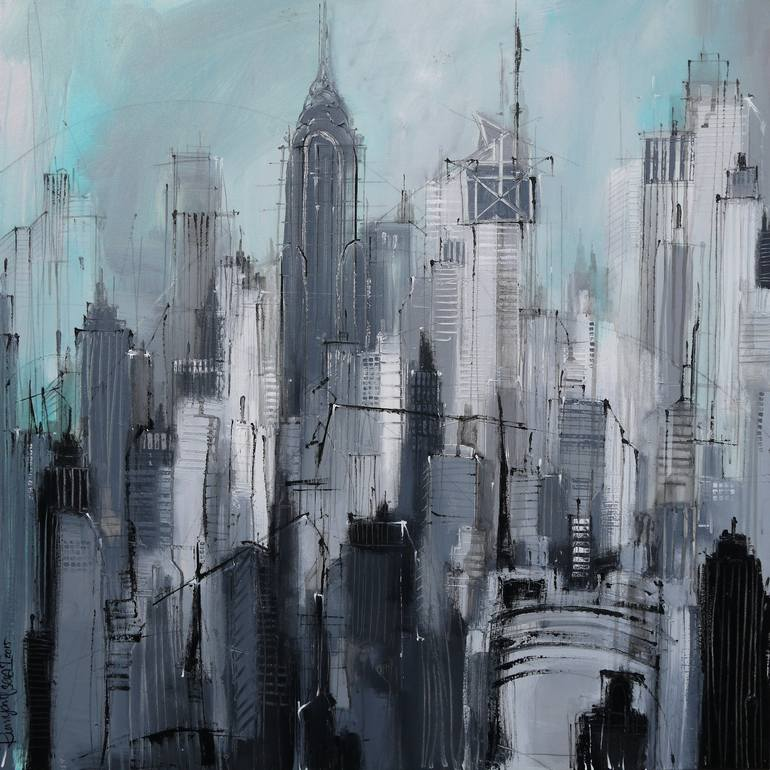 Saatchi Art  Manhattan Skyline NYC Painting by Irina Rumyantseva Saatchi Art Artist Irina Rumyantseva  Painting     Manhattan Skyline NYC      art