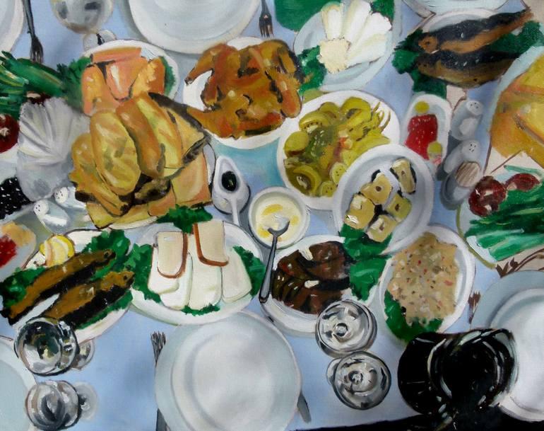 Risultati immagini per Food Painting, 47.2 H x 59.1 W x 1.2 in Soso Kumsiashvili