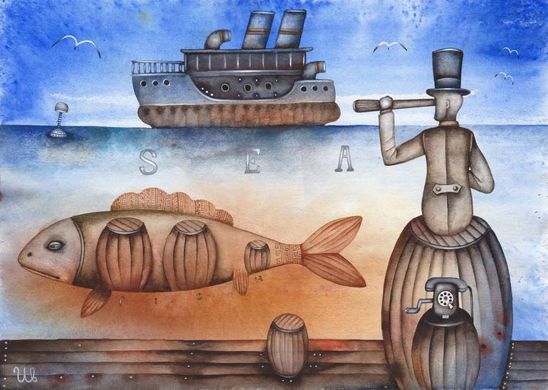 Risultati immagini per Marine Dreams Painting by Eugene Ivanov