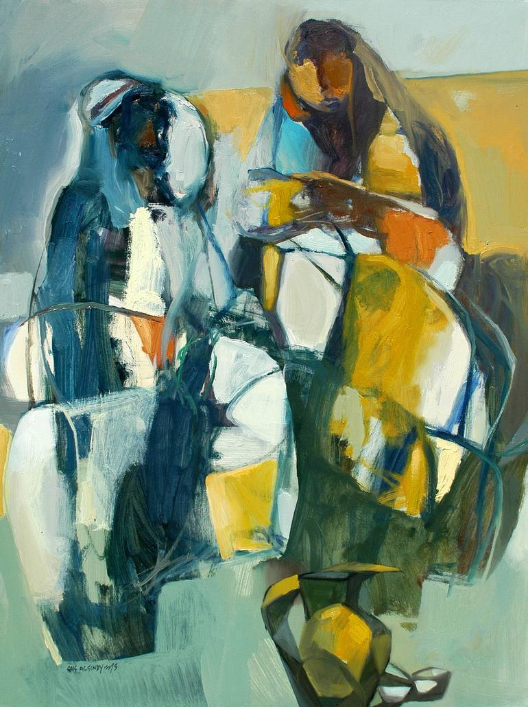 Risultati immagini per The Good Bedouin Painting, 36 H x 24 W x 1 in Qais Al-Sindy