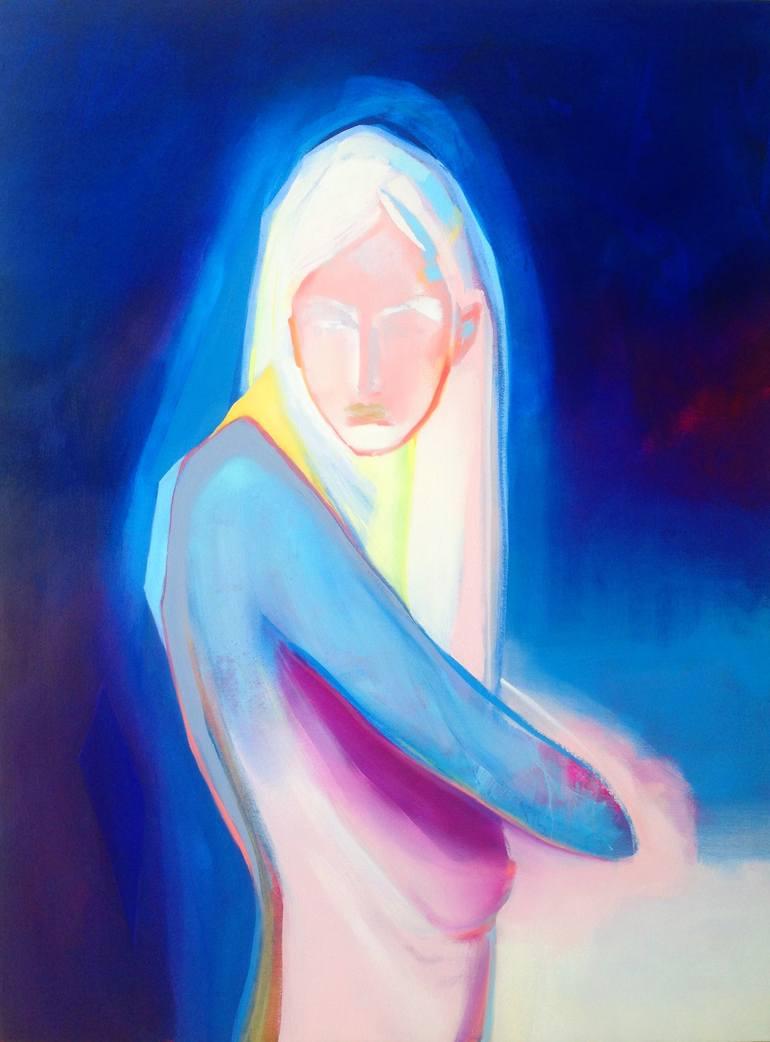 Risultati immagini per Hold Onto the Sky Painting, 48 H x 36 W x 1 in Zoë Pawlak