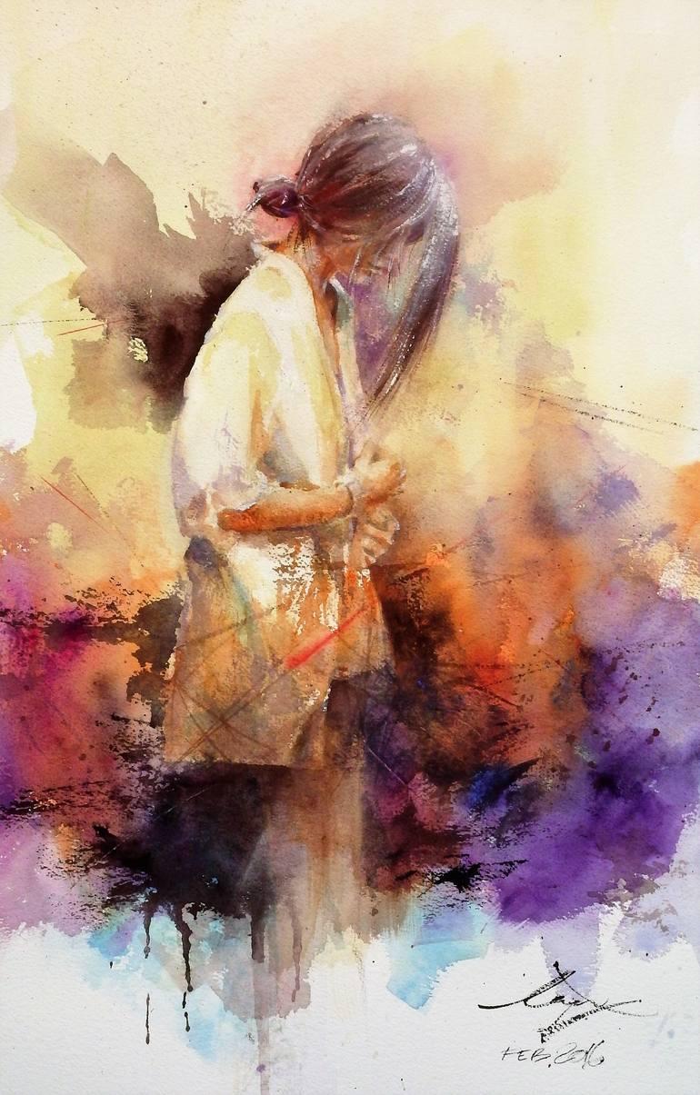Risultati immagini per inner pain Painting, 22 H x 15 W x 0 in Kan Srijira