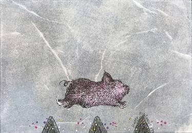 Image of: Predators Happy Piglet Drawing By Chiri Kuroiwa Saatchi Art Happy Piglet Drawing By Chiri Kuroiwa Saatchi Art