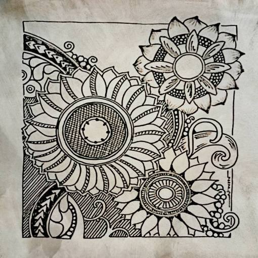 Saatchi Art  Big Flowers Drawing by kreativ corner     Saatchi Art Artist kreativ corner  Drawing     Big Flowers     art