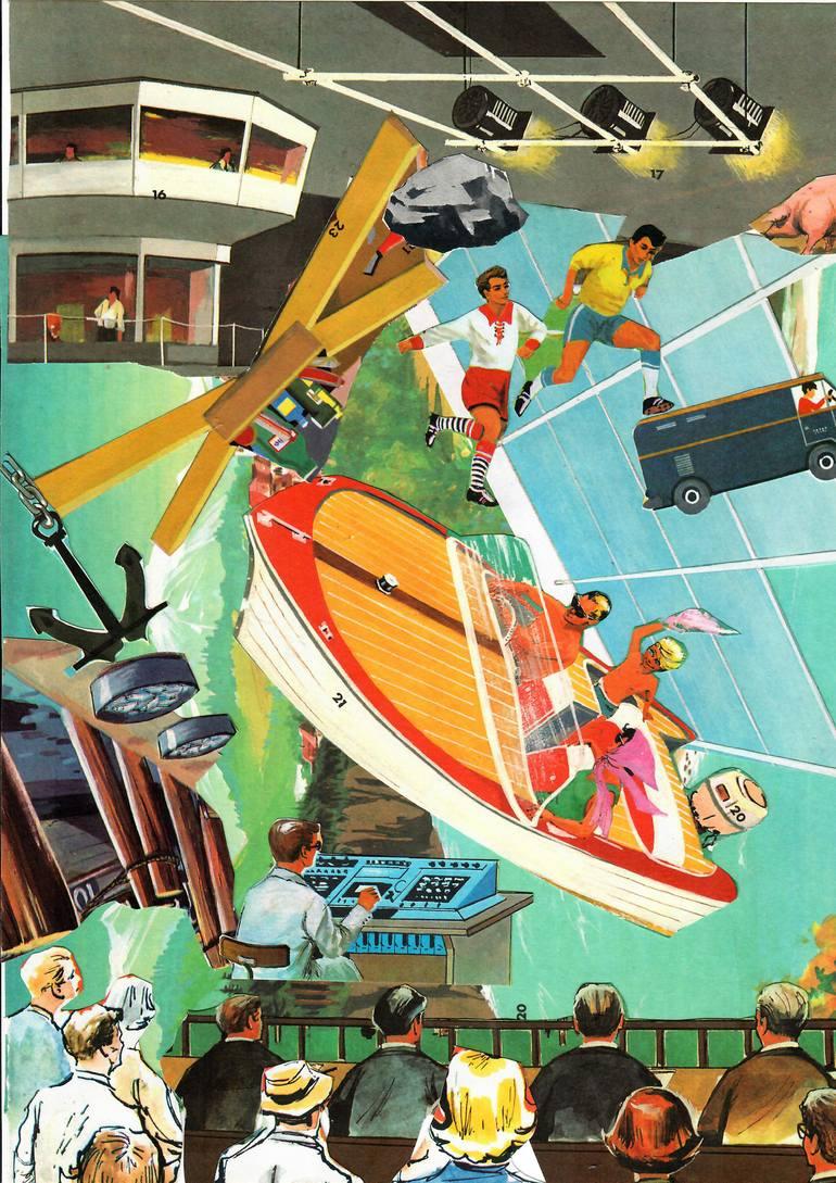 Risultati immagini per Saatchi Art: Heroic Future Collage by Thomas Nagel