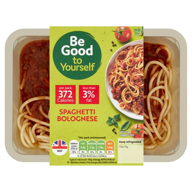 sainsbury s spaghetti bolognese be good to yourself 400g