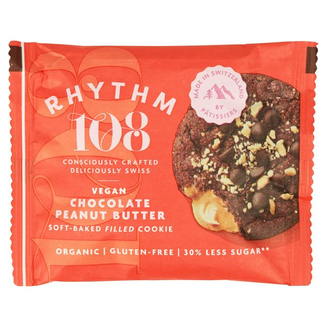 Rhythm 108 Chocolate Peanut Butter Soft Baked Filled Cookie 50g