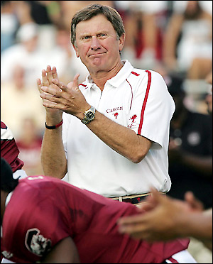 The Ol Ball Coach looked like he was on top of his game in the Gamecocks triumph over Ole Miss
