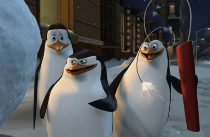 Kowalski (Far Left, Movie Version)