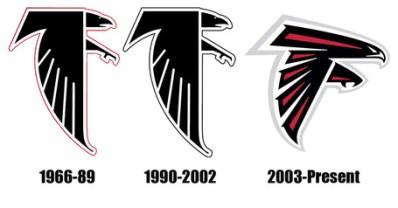 Resultado de imagen de atlanta falcons logo history