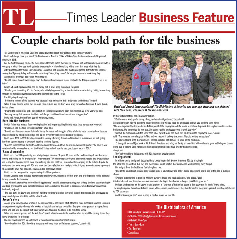 the times leader business directory