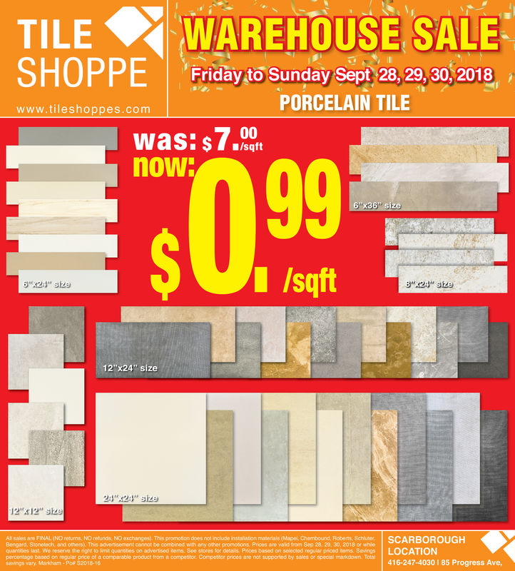 When we say we have a product for every project we mean it. Thursday September 20 2018 Ad Tile Shoppe York Region