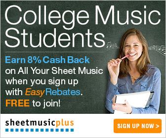 Sheet Music Plus Easy Rebates