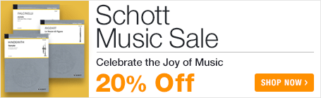 Schott Music Sale - save 20% on classical and contemporary sheet music!