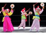 Children performing a traditional Korean dance