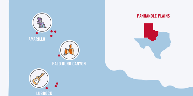 Texas Road Trip Panhandle Map