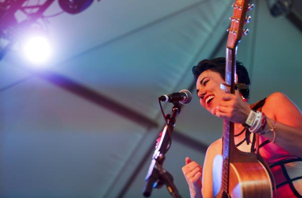 Gina Chavez performs at ACL Festival