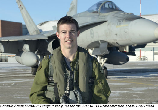 Royal Canadian Air Force Announces Pilot And Theme For