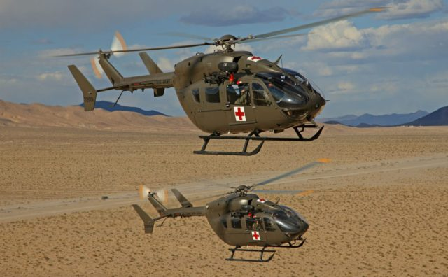 The U.S. Army ordered the UH-72A Lakota, a variant of the H145M, in 2006 as its light utility helicopter and currently operates a fleet of 400.