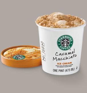 Starbucks Caramel Macchiato ice cream