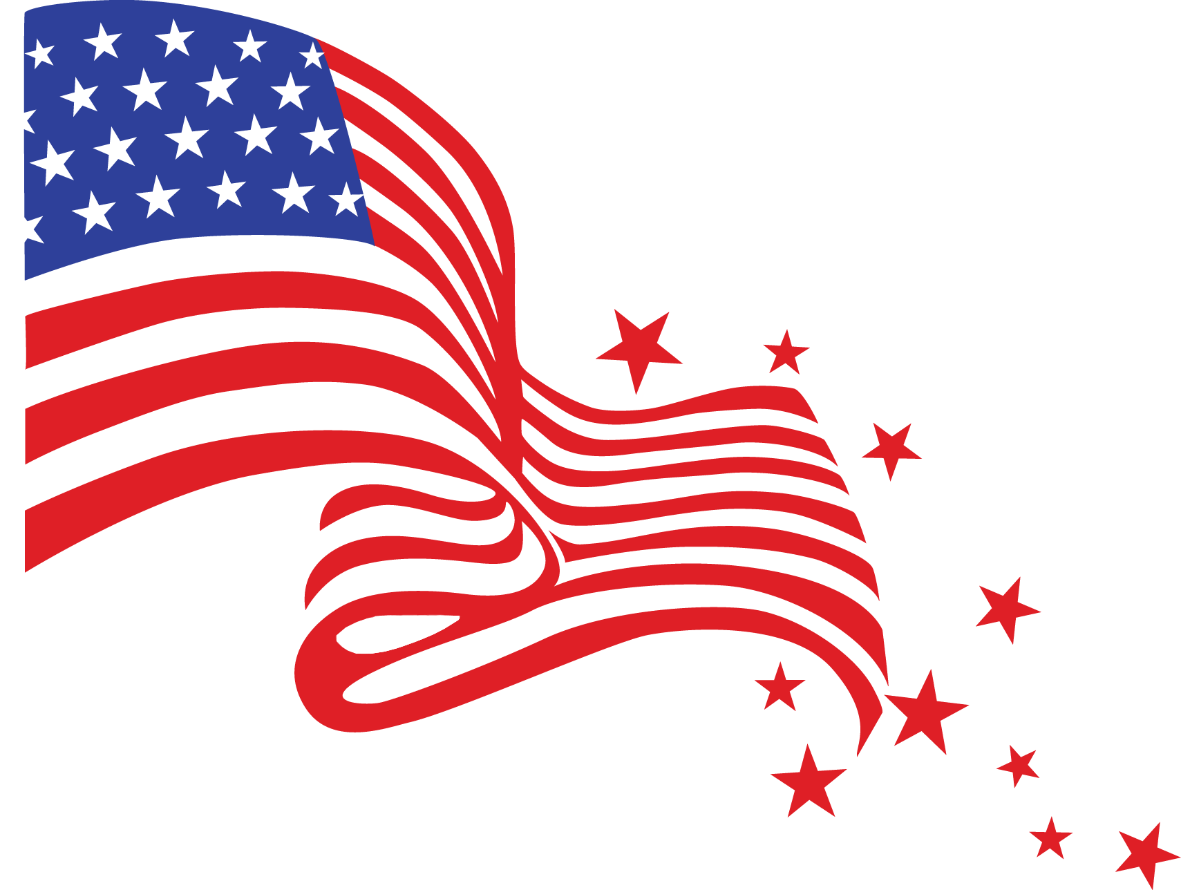 Happy Fourth Of July Flag Transparent Png Stickpng