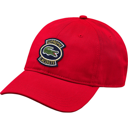 Supreme®/LACOSTE Twill 6-Panel (Red)