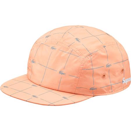 Supreme®/LACOSTE Reflective Grid Nylon Camp Cap (Peach)