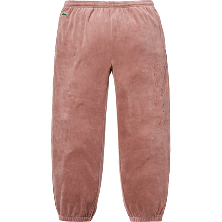 Supreme®/LACOSTE Velour Track Pant (Light Maroon)
