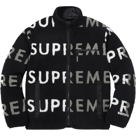 Reversible Logo Fleece Jacket (Black)