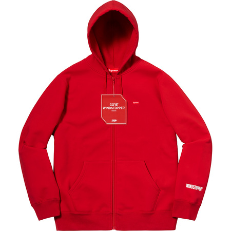 WINDSTOPPER® Zip Up Hooded Sweatshirt (Red)