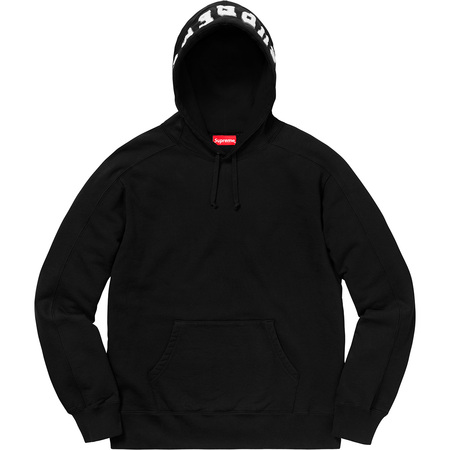 Paneled Hooded Sweatshirt (Black)