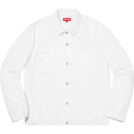 Snap Front Twill Jacket (White)