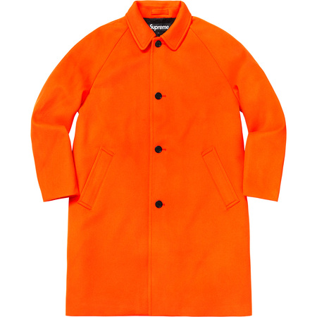 Wool Trench Coat (Neon Orange)