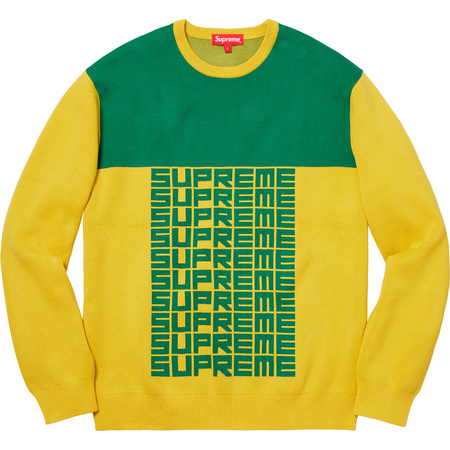 Logo Repeat Sweater (Yellow)