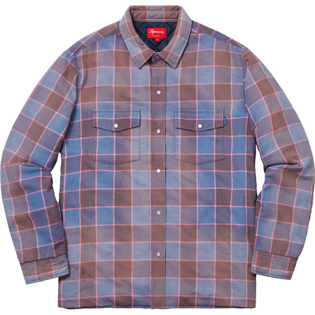 Quilted Faded Plaid Shirt (Dusty Blue)