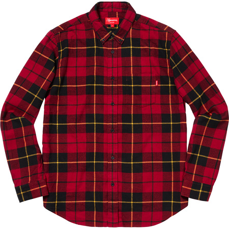 Tartan L/S Flannel Shirt (Red)