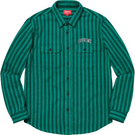 Stripe Heavyweight Flannel Shirt (Teal)