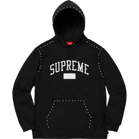 Studded Hooded Sweatshirt (Black)