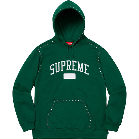 Studded Hooded Sweatshirt (Dark Green)