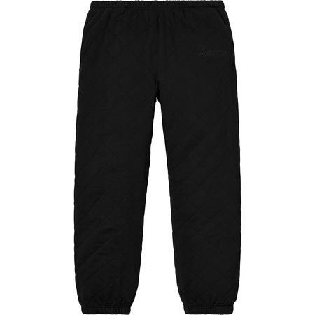 Quilted Sweatpant (Black)